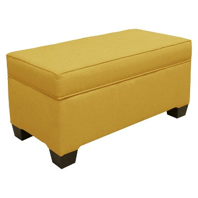 Custom Upholstered Box Seam Bench - Skyline Furniture