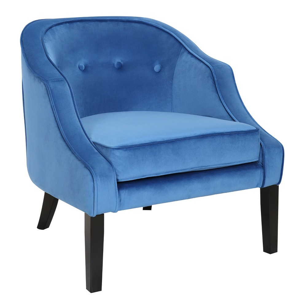 Sofia Contemporary Accent Chair Blue Lumisource
