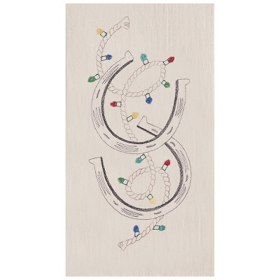 C&F Home Holiday Rodeo Flour Sack Embroidered Cotton Kitchen Towel