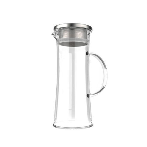 Hastings Home 50 oz. Glass Pitcher Carafe with Stainless Steel Filter Lid for Water, Coffee, Tea, Punch, Lemonade and More - image 1 of 4