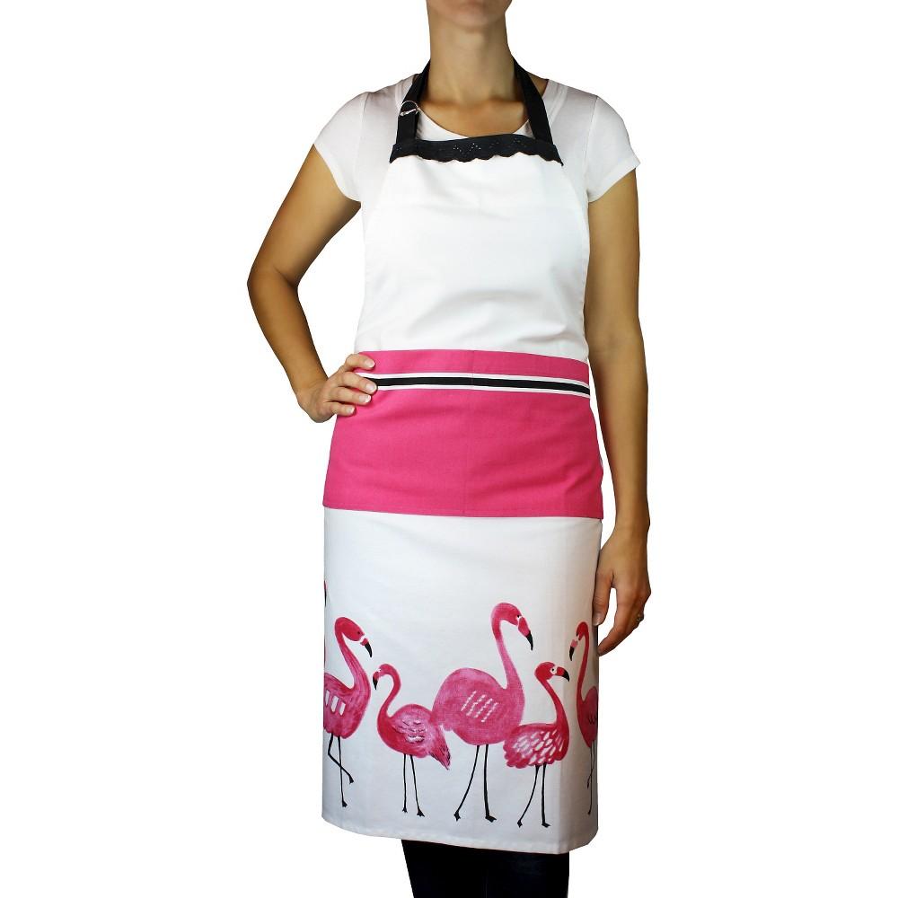 Flamingo Designer Print Apron Pink - Mu Kitchen