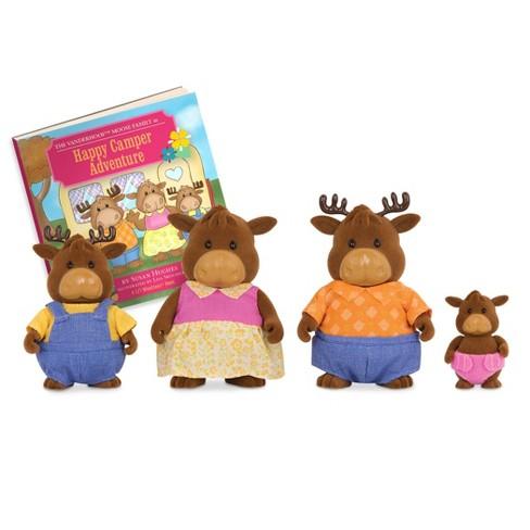 Li'l Woodzeez Miniature Animal Figurine Set - Vanderhoof Moose Family - image 1 of 4