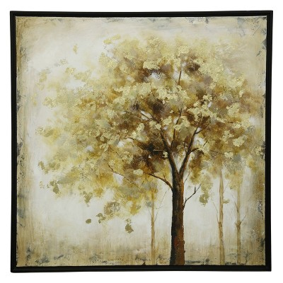 40  Tree Hand Painted Stretched Canvas Decorative Wall Art - StyleCraft