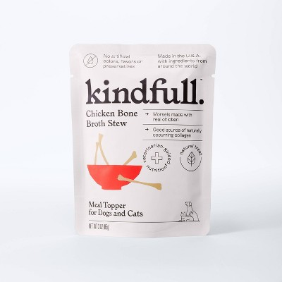 Bone Broth Stew Wet Meal Topper for Dog and Cat Food - 3oz - Kindfull™