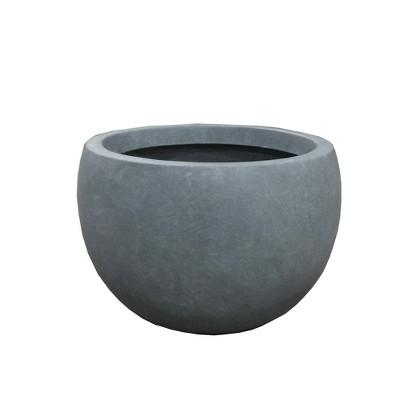 Kante Lightweight Outdoor Concrete Bowl Planter - Rosemead Home & Garden, Inc.