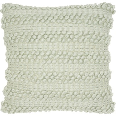 Woven Stripes Oversize Square Throw Pillow Pastel Green - Mina Victory