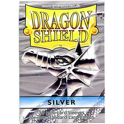 Card Supplies Dragon Shield Silver Small Card Sleeves [50 Count] - image 1 of 1