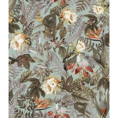 RoomMates Tropical Flowers Peel & Stick Wallpaper