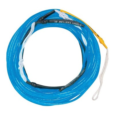 Hyperlite 77000232 70 Foot Silicone Coated X-Line for Waterski and Wakeboard, Neon Blue