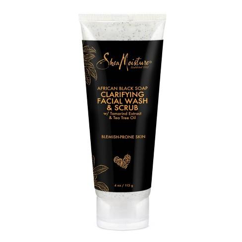 12eae4d6ea202 SheaMoisture African Black Soap Problem Skin Facial Wash and Scrub - 4 oz