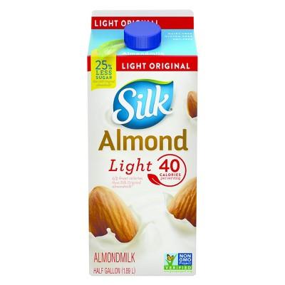 Silk Almond Milk Original Light - 0.5gal