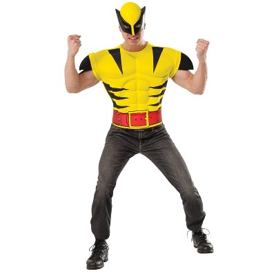 Adult Marvel Wolverine Chest Shirt Halloween Costume One Size