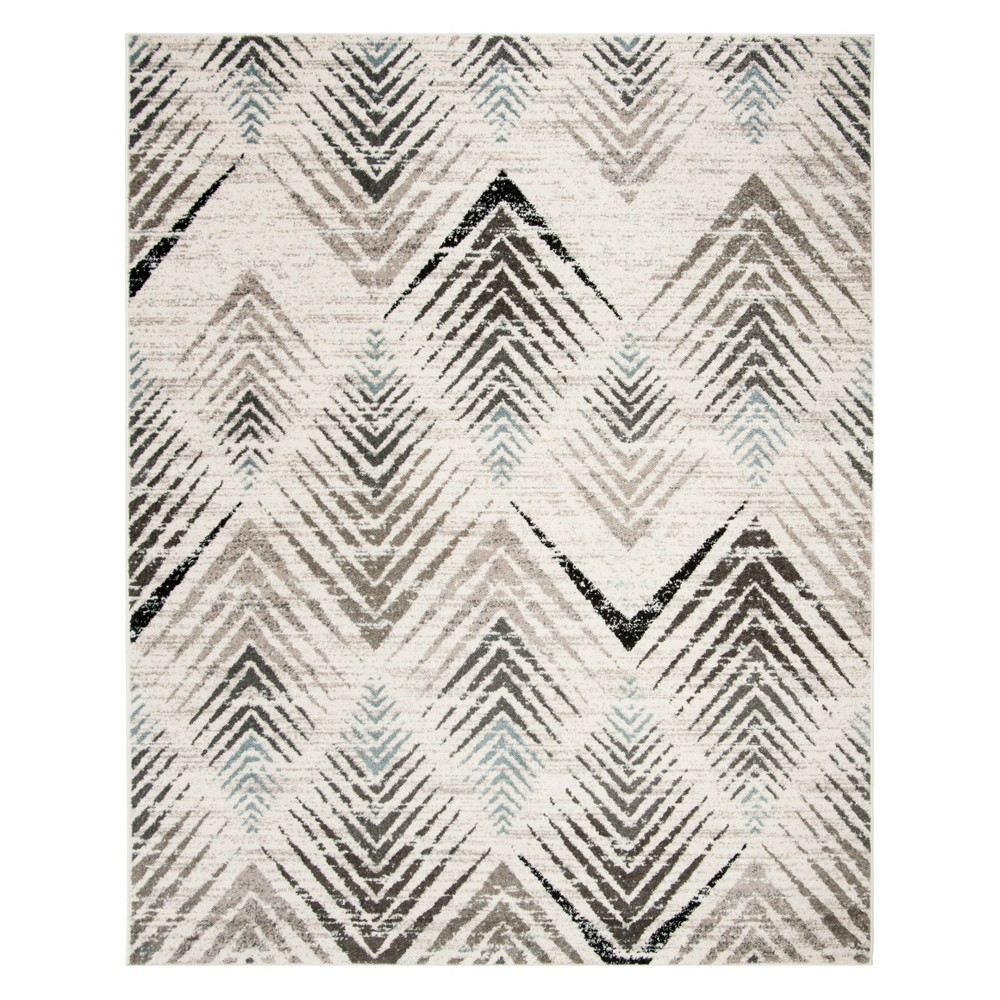 8'X10' Geometric Loomed Area Rug Cream/Beige - Safavieh, Beige Off-White