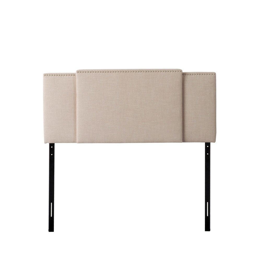 Fairfield 3 In 1 Expandable Fabric Padded Headboard Beige - CorLiving