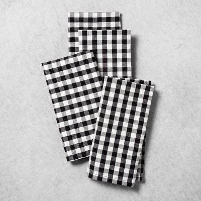 Gingham Napkin 4ct - Black/White - Hearth & Hand™ with Magnolia
