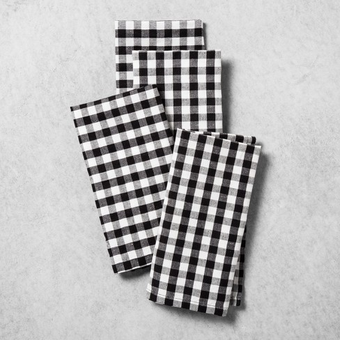 Gingham Napkin 4ct - Black/White - Hearth & Hand™ with Magnolia - image 1 of 2