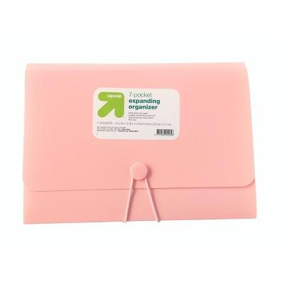 7 Pocket Expandable File Folder Letter Size Pink - up & up™
