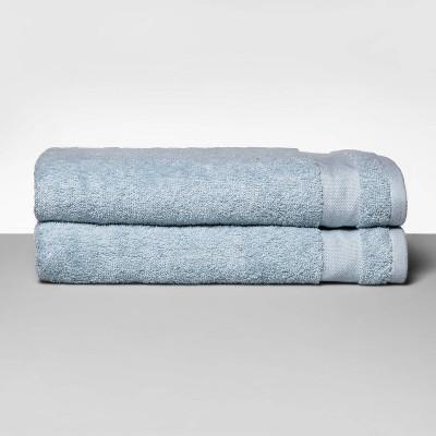 2pk Bath Towel Set Quiet Aqua - Made By Design™
