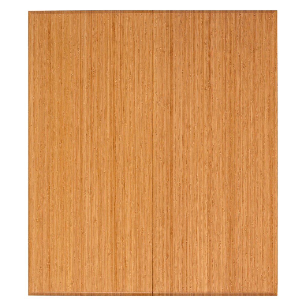 "Image of ""3'5""""X4' Bamboo Tri-Fold Plush Chairmat with No Lip Neutral - Anji Mountain"""