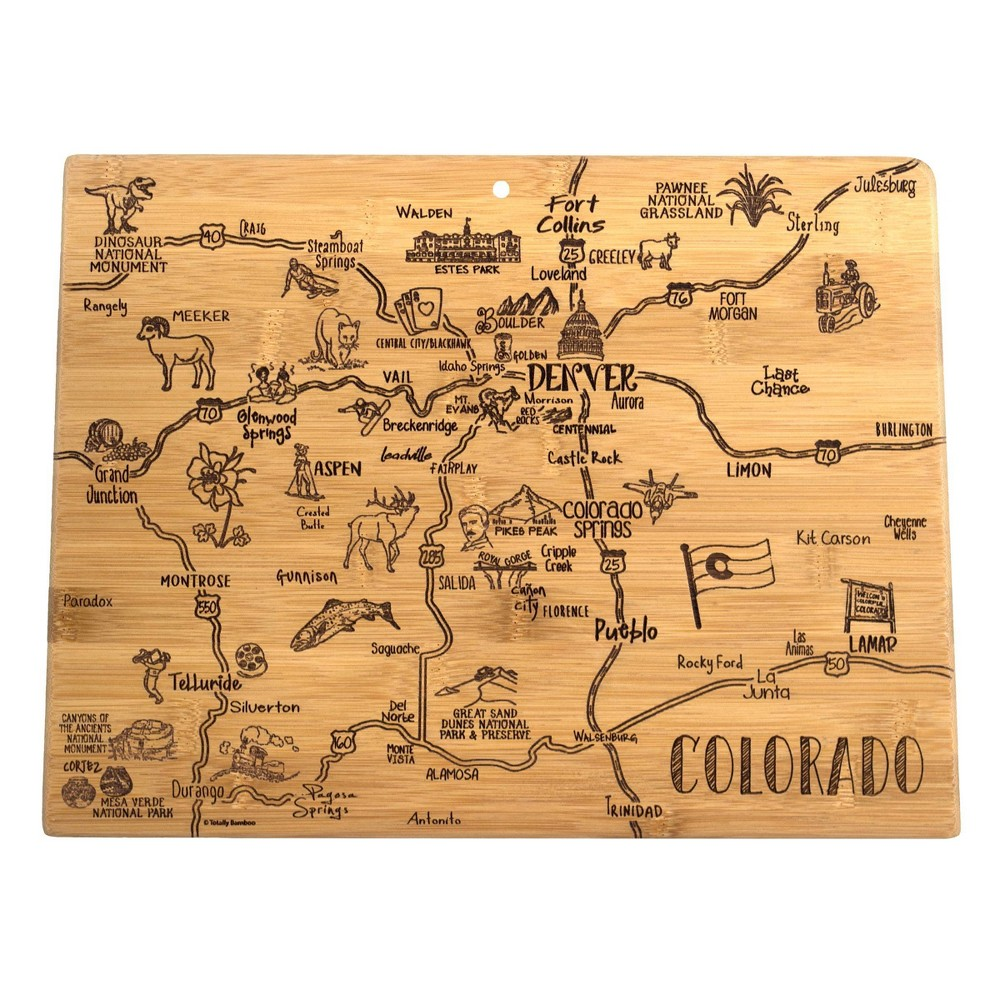 Image of Totally Bamboo Destination Colorado Serving and Cutting Board