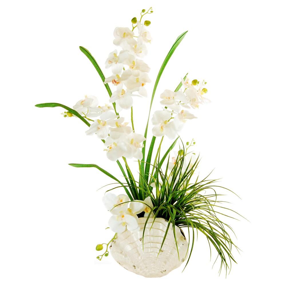 Artificial Orchid Arrangement White 32 - Lcg Florals, Multi-Colored