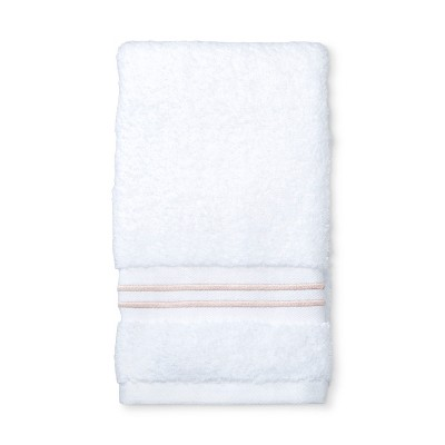 Spa Stripe Accent Hand Towel Peach - Fieldcrest®