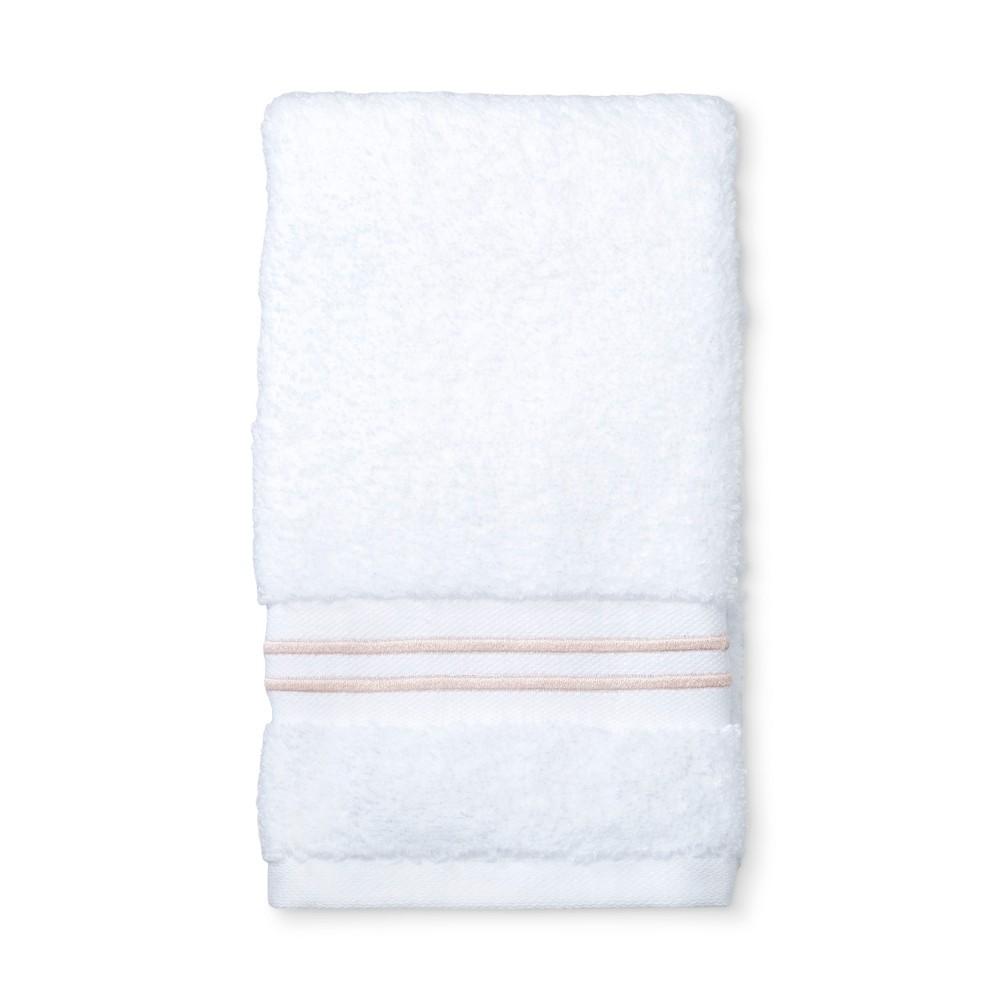 Spa Hand Towel Peach Stripe - Fieldcrest