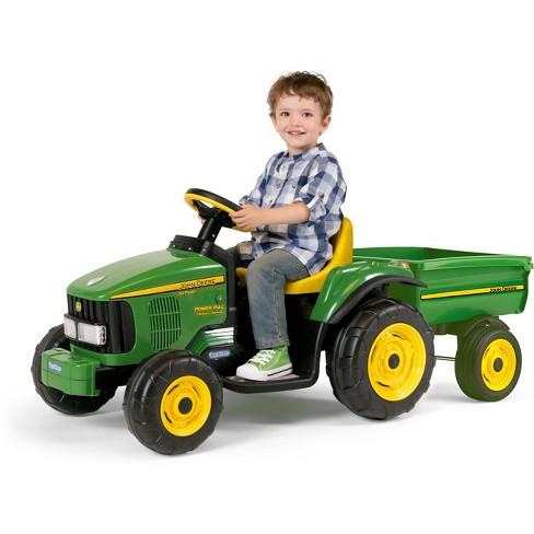 John Deere Ride On Toys >> Peg Perego John Deere 6v Power Pull Tractor Green