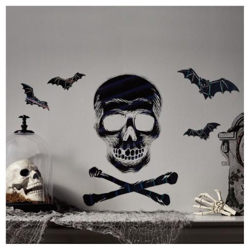 Halloween Foil Wall Art - Crossbones with Bats - Hyde and Eek ...