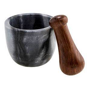 104.7oz 2pc Marble Mortar Bowl with Sheesham Wood Pestle - Thirstystone