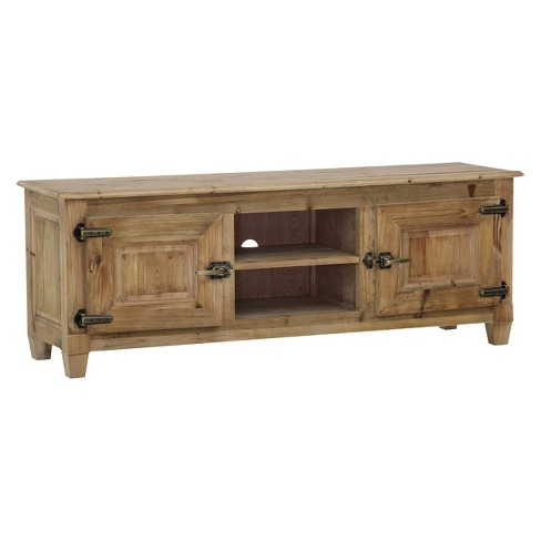 "Grayson Entertainment Unit Natural/Antique Brass 63"" - Maaya Home - image 1 of 1"