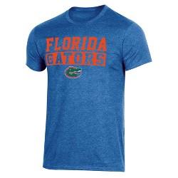 NCAA Florida Gators Men's Short Sleeve Crew Neck Blue & Orange T-Shirt