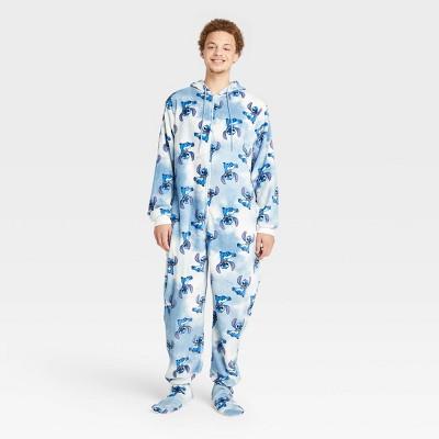 Men's Disney Stitch Union Suit - White/Blue