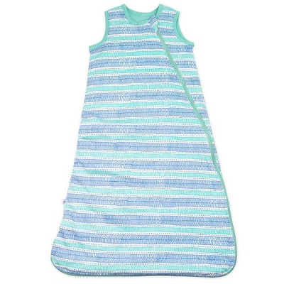 Honest Baby Organic Cotton Jersey Fill Wearable Blanket All Seasons - Teal Geometric M