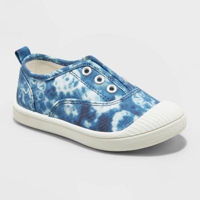 Toddler Tie-Dye Slip-On Apparel Sneakers - Cat & Jack™ Navy