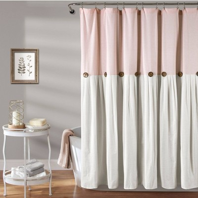 Linen Button Shower Curtain - Lush Décor