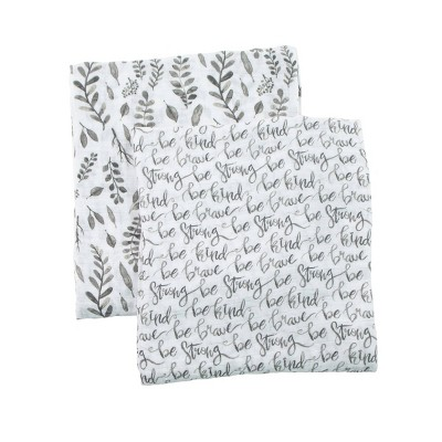 Bebe au Lait Muslin Swaddle Set Just Be - Leaves