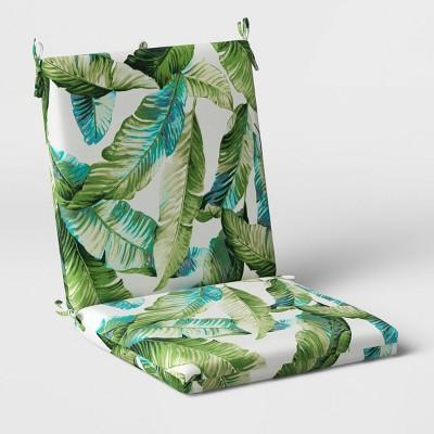 Vacation Tropical Outdoor Chair Cushion DuraSeason Fabric™ Green - Threshold™