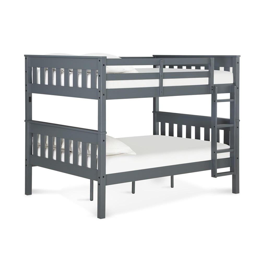 Full Over Full Dolan Bunk Bed with Usb Port Gray - Dorel Living
