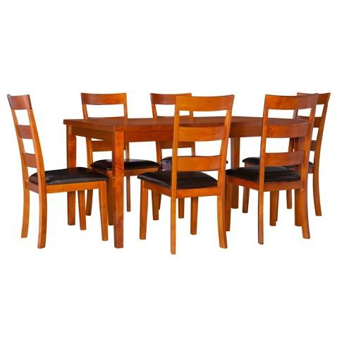 7pc Clinton Dining Set Cherry - Powell Company - image 1 of 4
