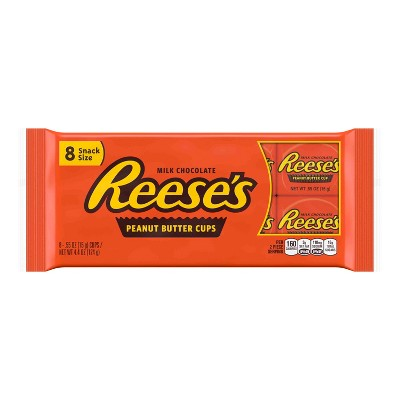 Reese's Peanut Butter Snack Size Cups - 8ct