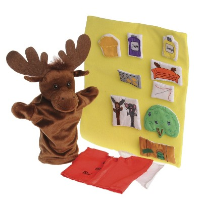 Marvel Education Co If You Give a Moose a Muffin Puppet and Props, set of 13