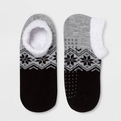 Women's Snowflake Double Lined Cozy Booties - A New Day™ One Size