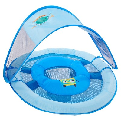 Swimways Blue Sea Monster Baby Spring Float Canopy