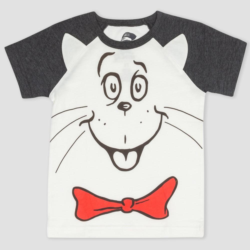 Toddler Boys' Dr. Seuss The Cat in the Hat Short Sleeve T-Shirt - Black/White 2T