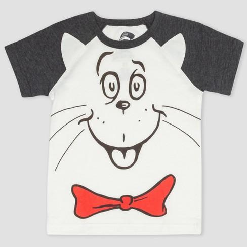 204d46327fc Toddler Boys  Dr. Seuss The Cat in the Hat Short Sleeve T-Shirt -  Black White