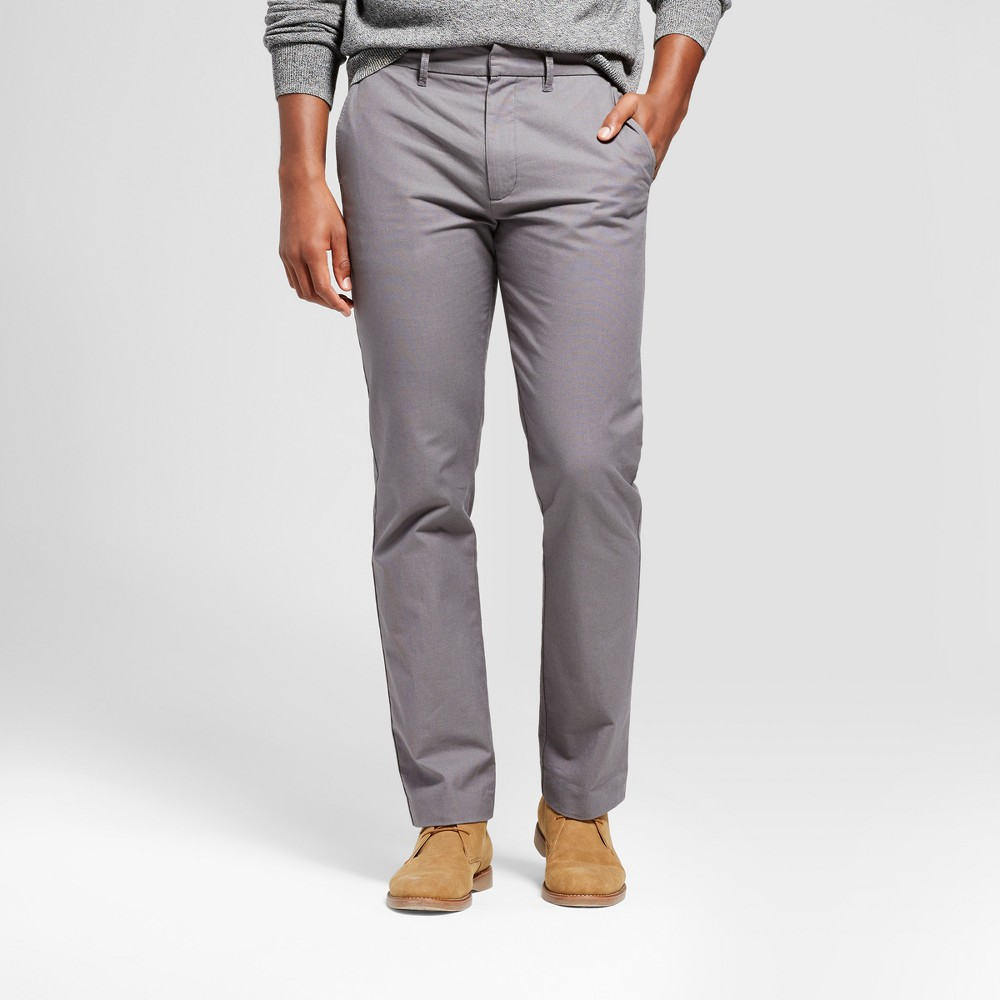 Men's Straight Fit Trouser Pants - Goodfellow & Co Gray 34x32