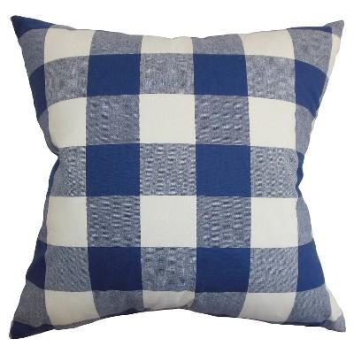 Buffalo Check Throw Pillow Navy (18 x18 )- The Pillow Collection