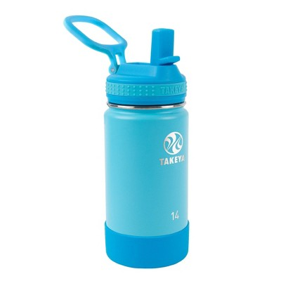 Takeya 14oz Actives Insulated Stainless Steel Water Bottle with Straw Lid