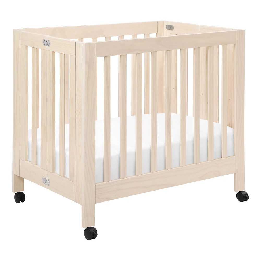Image of Babyletto Origami Mini Crib - Washed Natural